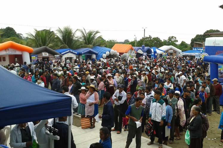 La iniciativa forma parte de una amplia jornada para conmemorar el onomástico de Fidel y el aniversario 191 de la independencia de Bolivia. (Foto: PL)