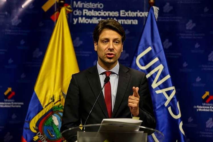 'Es hora de que los EE.UU. cambie sus políticas migratorias obsoletas hacia los cubanos', aseguró el canciller Guillaume Long. (Foto: PL)
