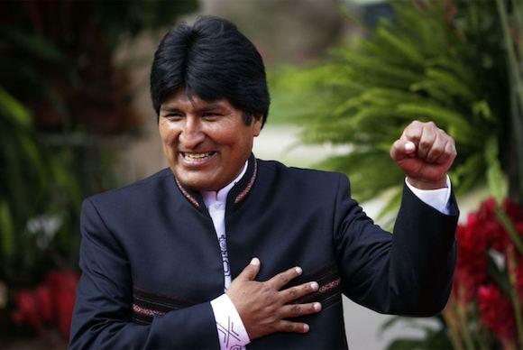 Evo Morales Ayma, Presidente del Estado Plurinacional de Bolivia.