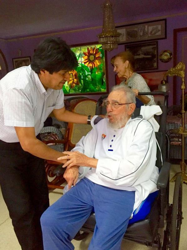 cuba, bolivia, evo morales, fidel castro, 90 cumpleaños de fidel castro