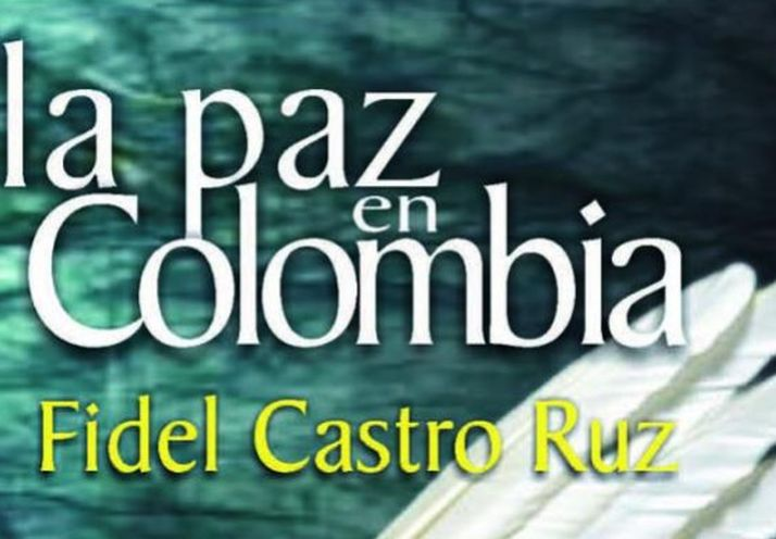 """Portada del libro """"La paz en Colombia""""."""