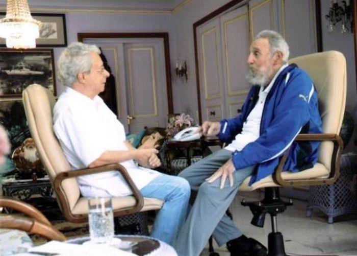 Fidel Castro y Frei Beto.