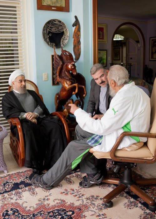 Fidel y Hassan Rouhani sostuvieron un fraternal encuentro. (Foto: Estudios Revolución)