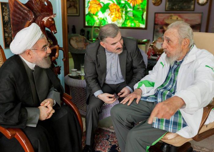 Fidel y Hassan Rouhani sostuvieron este lunes un amistoso encuentro. (Foto: Estudios Revolución)