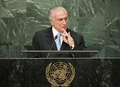 En su discurso ante la ONU, Temer se atrevió a asegurar que la destitución de Rousseff fue llevada adelante respetando la ley.