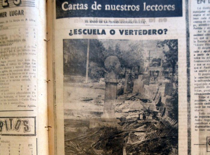 Primera denuncia publicada en esta sección hace exactamente 35 años. (Fotocopia: Reidel Gallo)