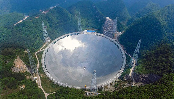 Mayor radiotelescopio del mundo, en China. (Foto: EFE)