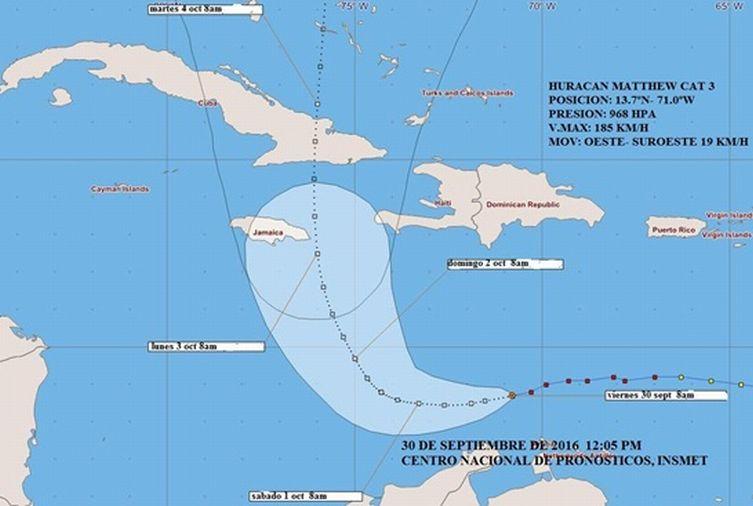 uracan, matthew, ciclones, cuba, pronostico del tiempo