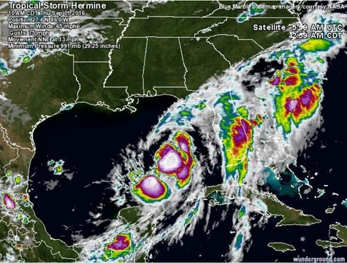 tormenta tropical, pronostico del tiempo