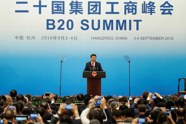 Xi Jinping pronunció las  palabras inaugurales de la cumbre de Comercio 20 (B20).  (Foto: PL)