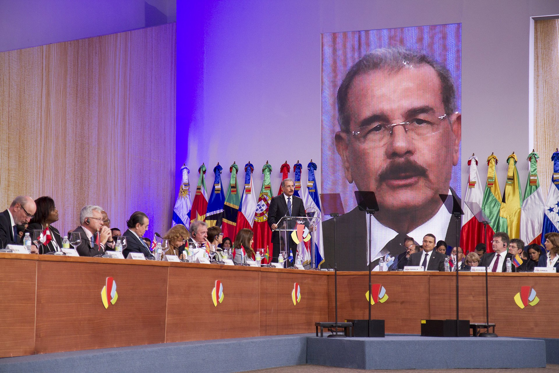 El presidente dominicano insistió en que el cambio climático atenta contra el desarrollo sostenible en Latinoamérica y el Caribe.