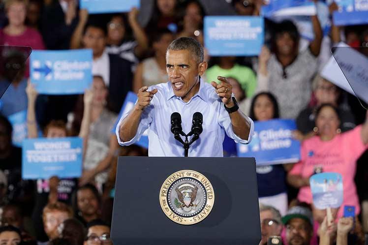 'No podemos elegir a Hillary y luego ensillarla con un Congreso que ni hace nada, ni intenta hacer algo', señaló Obama. (Foto: PL)