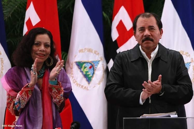 Daniel Ortega y Rosario Murillo cuentan con el 64,2 por ciento de intención de votos. (Foto: PL)