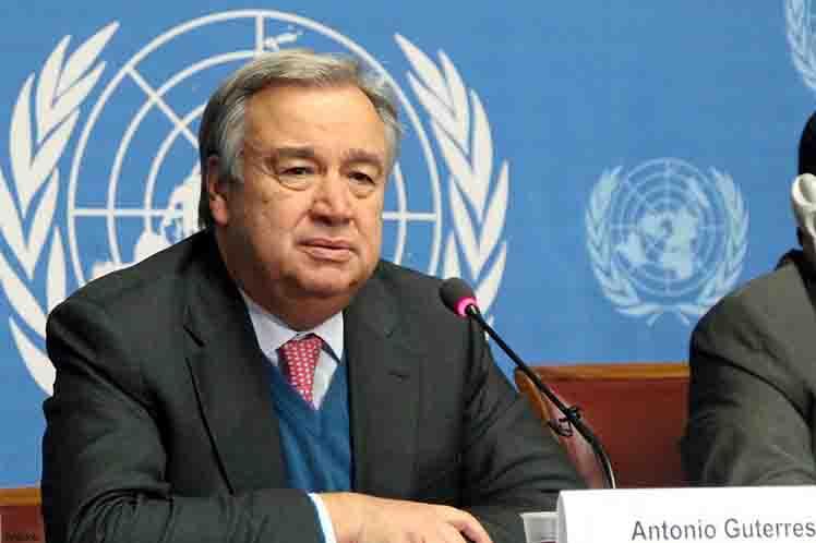 Cuente con el apoyo de Cuba, dijo el representante de la isla a Guterres.