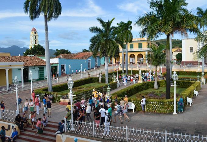 Trinidad resulta uno de los polos preferidos en Cuba por el turismo internacional.