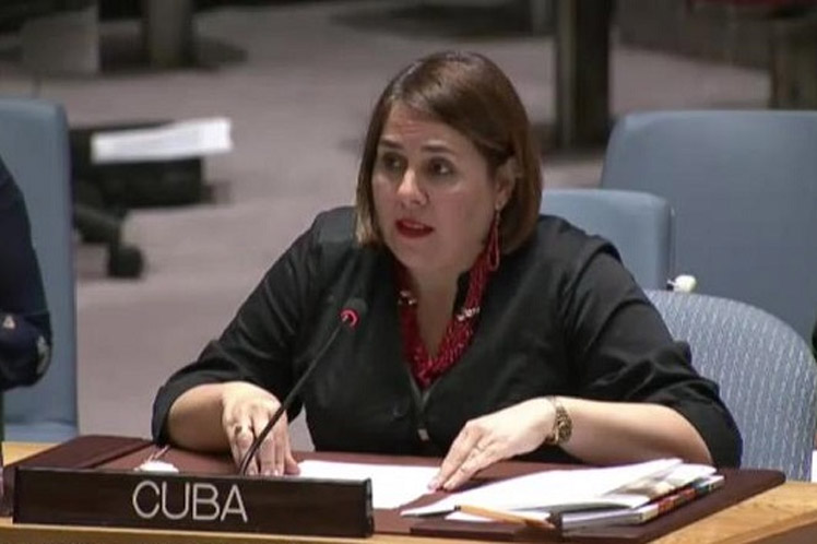 La representante permanente alterna de la isla, Ana Silvia Rodríguez, intervino en un debate abierto del Consejo de Seguridad sobre la situación en el Medio Oriente. (Foto: PL)