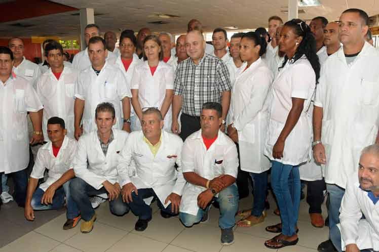 El ministro manifestó su confianza en que la labor de ellos allí será reconocida por el pueblo haitiano. (Foto: PL)