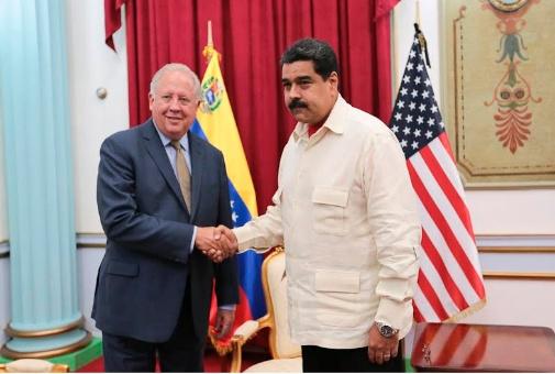 Maduro recibió en la sede de Gobierno en Caracas, al subsecretario de Estado de EE.UU. para Asuntos Políticos, Thomas Shannon. (Foto: Prensa Presidencial)