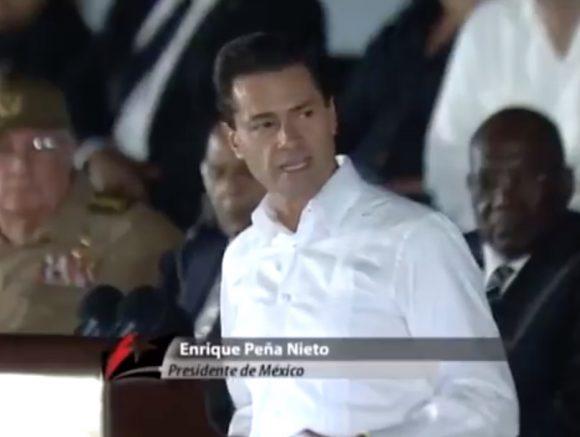 Cuba y México -afirmó Peña Nieto- estamos construyendo una agenda amplia y moderna.