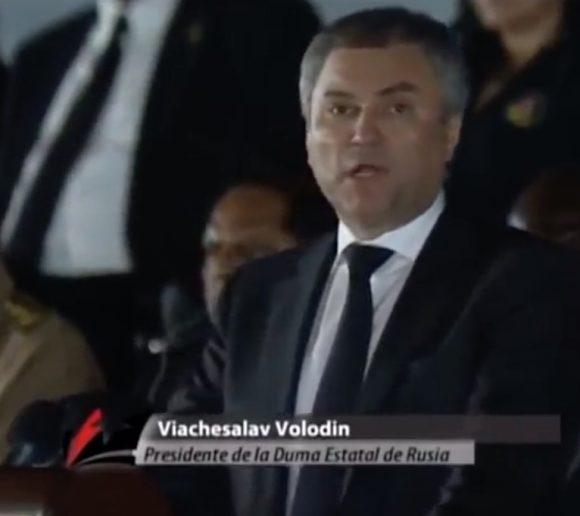 Volodin recordó la ayuda del Comandante a muchos países por la libertad.