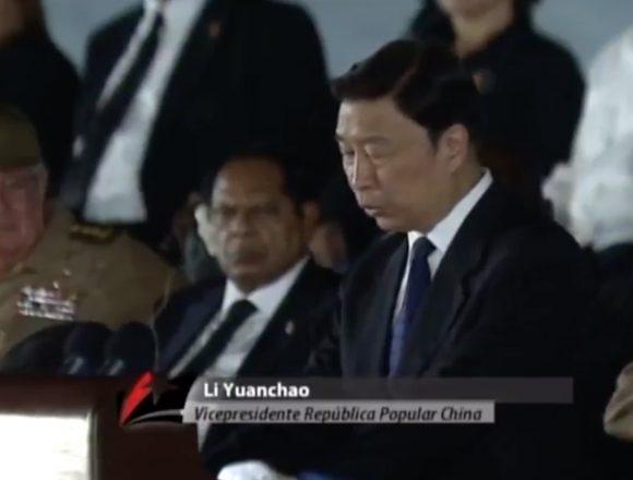 ¡Gloria eterna al gran compañero Fidel Castro!, afirmó Li Yuanchao.