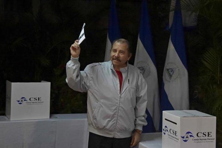 Daniel Ortega saludó y reconoció el acompañamiento de las diferentes delegaciones, incluida una representación de la OEA.