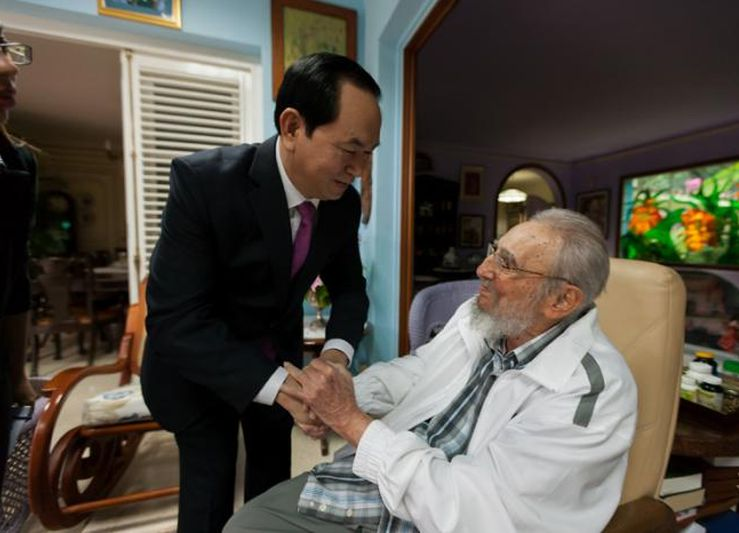 cuba, vietnam, fidel castro, presidente de vietnam