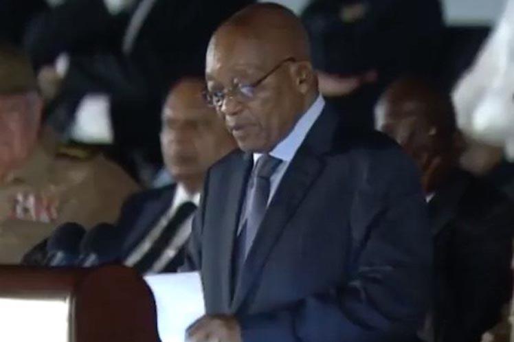 Zuma reconoció el importante papel jugado por la Revolución y Fidel en la desaparición del régimen del apartheid en Sudáfrica. (Foto: PL)