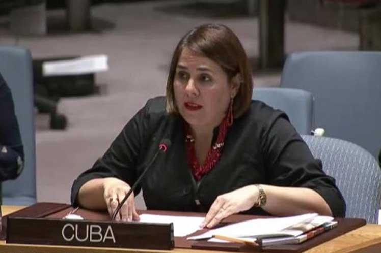 Llamamos a la eliminación del peligro de la guerra, sentenció la representante cubana. (Foto: PL)