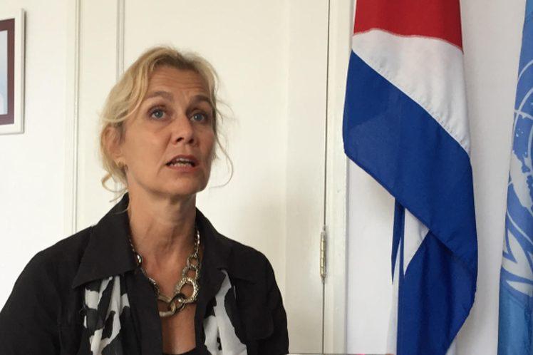 Myrta Kaulard, Coordinadora Residente del Sistema de Naciones Unidas en Cuba.