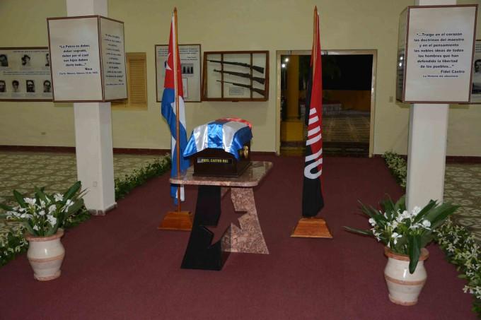 Los restos de Fidel reposan en el parque museo Ñico López, otrora cuartel Carlos Manuel de Céspedes. (Foto: La Demajagua)