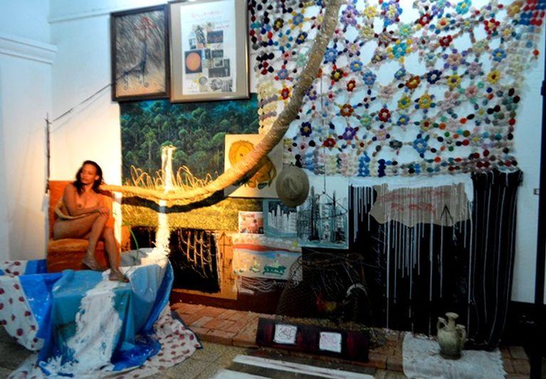 La exhibición recibió elogios por parte de personalidades de la cultura como el crítico de arte Nelson Herrera Ysla. (Foto: Carlos L. Sotolongo)