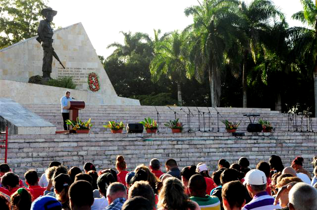 La celebración de la victoria de Yaguajay devino acto provincial en saludo al aniversario 58 del triunfo de la Revolución. (Fotos: Vicente Brito / Escambray)