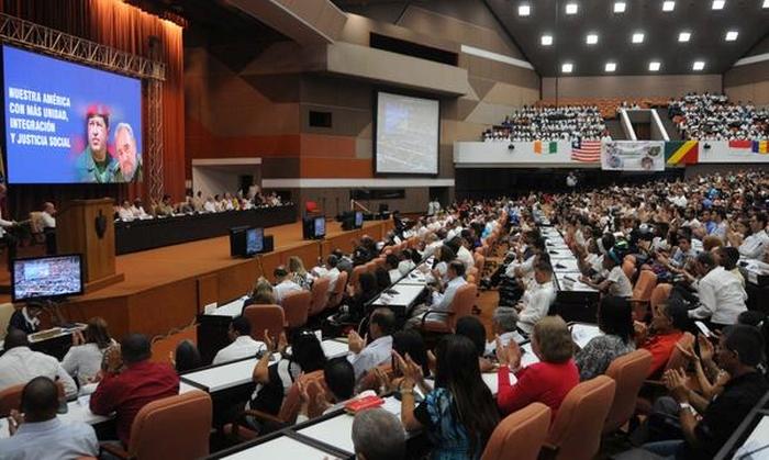 Acto por el XII aniversario de la creación de la Alianza Bolivariana para los Pueblos de Nuestra América-Tratado de Comercio de los Pueblos (ALBA-TCP) y en Solidaridad con la Revolución bolivariana. (Foto: ACN)