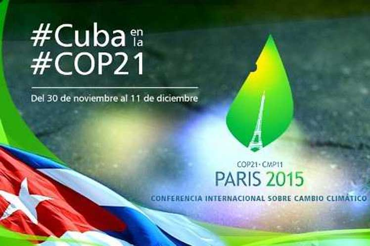 Cuba ratificará en los próximos días ante la ONU el Acuerdo de París.