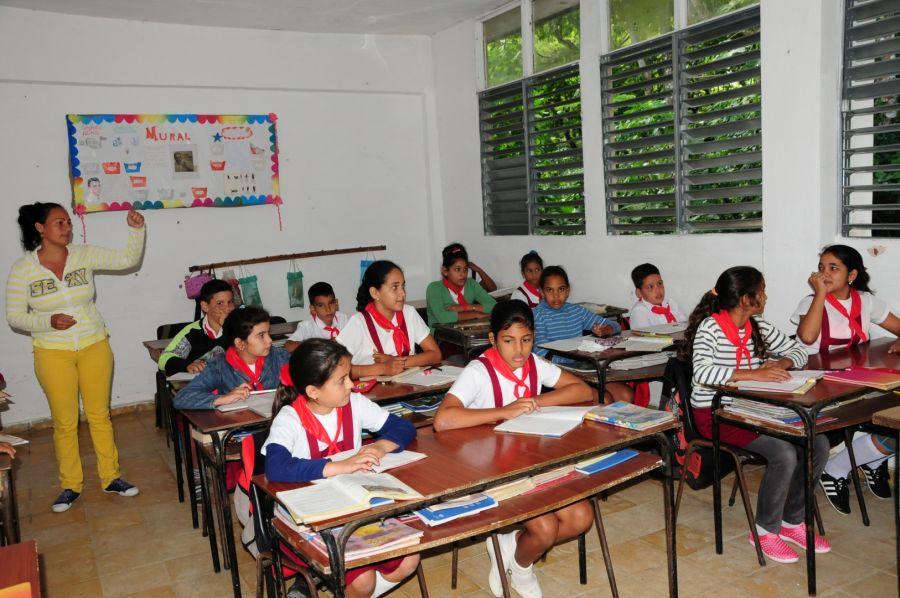 La Enseñanza Primaria durante el pasado curso se destacó en los concursos de conocimientos. (Fotos: Vicente Brito / Escambray)