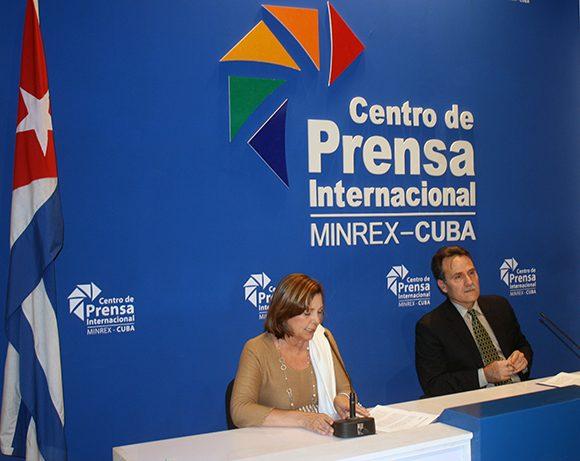 La conferencia de prensa tuvo lugar en el Centro de Prensa Internacional, en La Habana. (Foto: José Raúl Concepción/ Cubadebate)