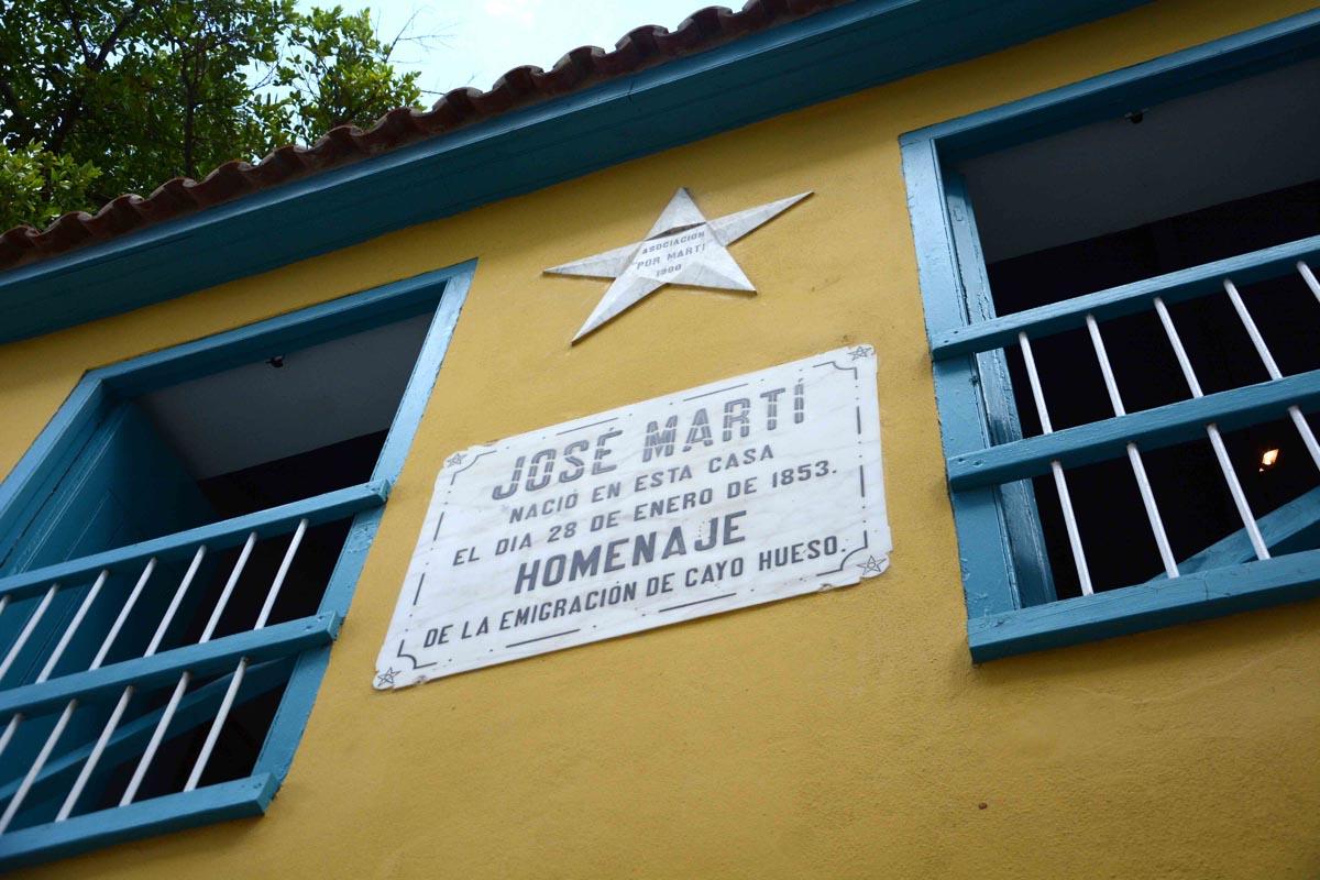 casita marcada con el número 41, en la calle de Paula, donde nació José Martí,