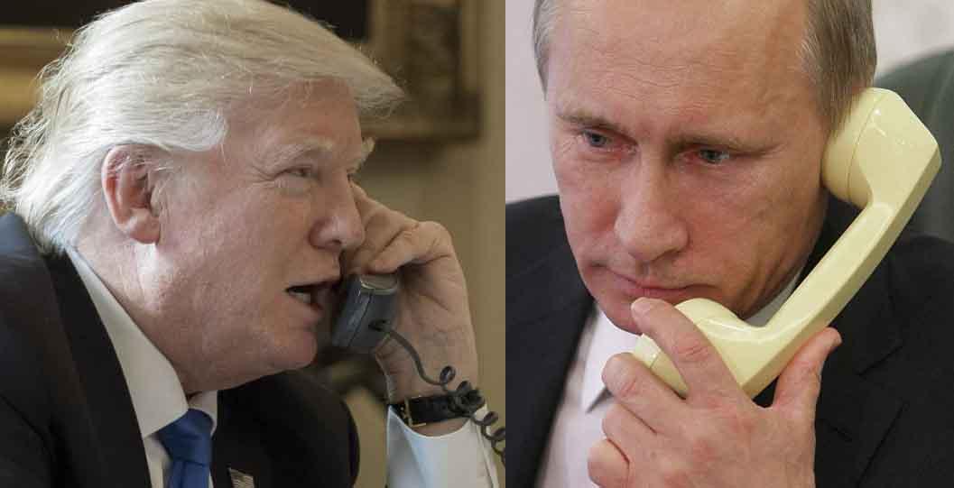 Putin y Trump conversaron por más de 40 minutos.