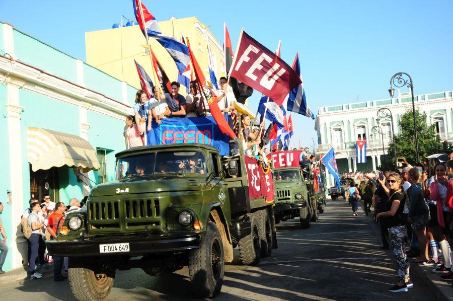 sancti spiritus, caravana de la libertad, fidel castro, ejercito rebelde, revolucion cubana