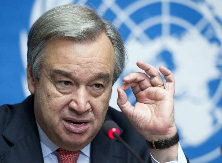 Guterres lamentó que en muchas partes del mundo continúen los enfrentamientos armados.