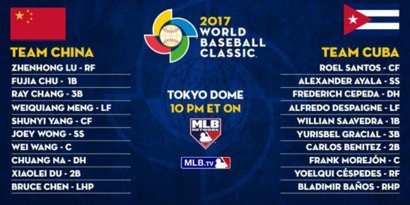 Clásico Mundial, béisbol, Cuba, China