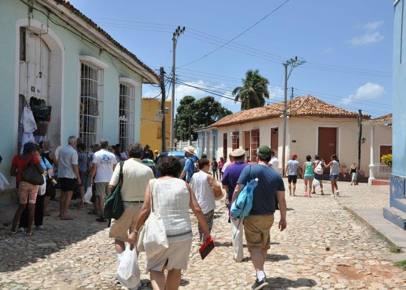 Tourists in Cuba.