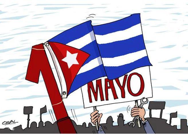 sancti spiritus, cuba, primero de mayo, dia internacional de los trabajadores, central de trabajadores de cuba, ctc
