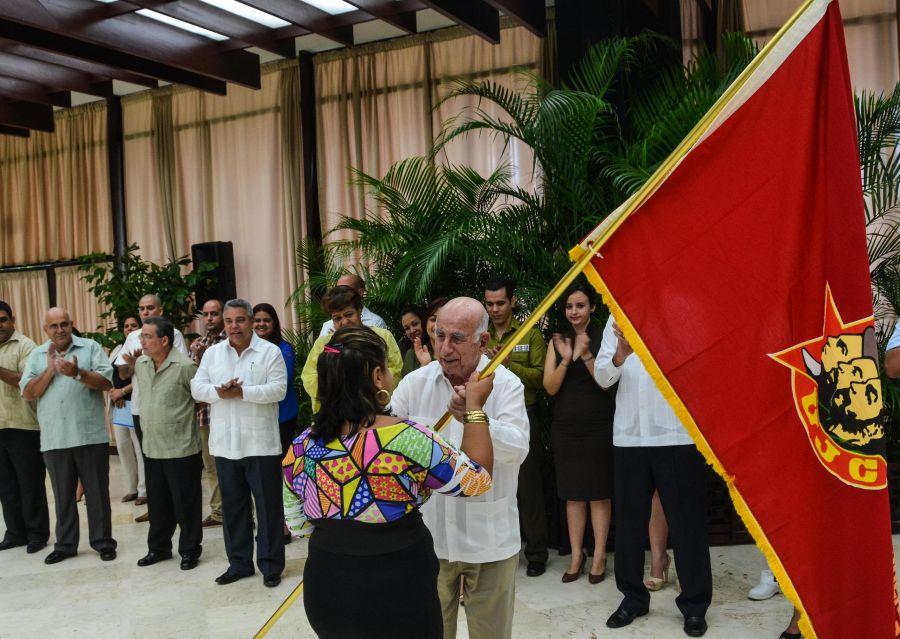 cuba, sancti spiritus, universidad de ciencias medicas, union de jovenes comunistas, bandera de honor, jose ramon machado ventura, ujc