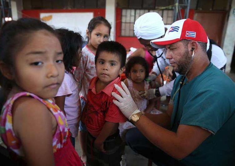 cuba, peru, brigada medica cubana, contingente henry reeve, intensas lluvias