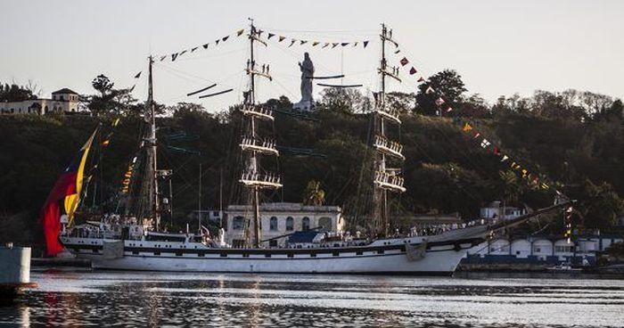 cuba, venezuela, buque escuela, puerto de la habana
