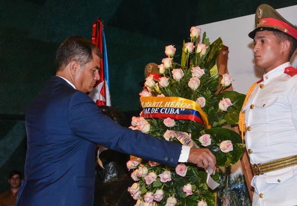 Cuba, Ecuador, Rafael Correa, José Martí