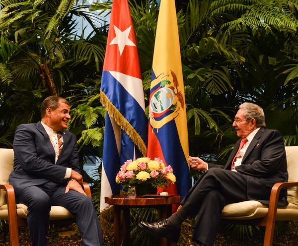 Cuba, Ecuador, Raúl Castro, Rafael Correa