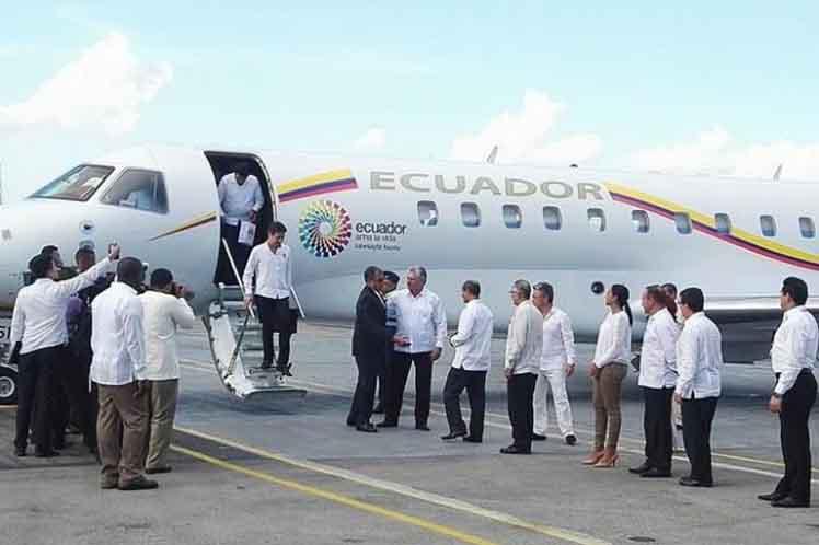 Rafael Correa, Cuba, Ecuador, visita oficial